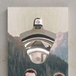 Thumbnail for Wall Mounted Bottle Opener with Happy Camper design 2