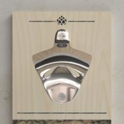 Thumbnail for Wall Mounted Bottle Opener with Hoppy Monogram design 2