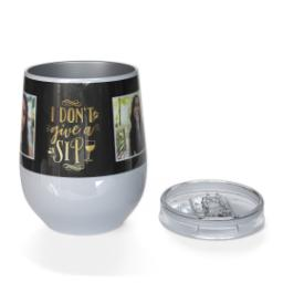 Thumbnail for Stainless Steel Wine Tumbler with No Sips Given design 3