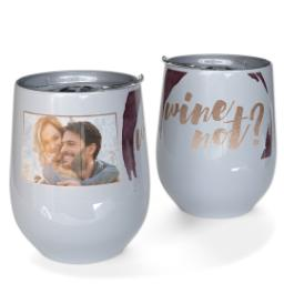Thumbnail for Stainless Steel Wine Tumbler with Wine Not design 1