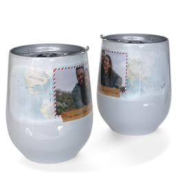 Thumbnail for Stainless Steel Wine Tumbler with You Mean The World To Me design 1
