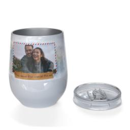 Thumbnail for Stainless Steel Wine Tumbler with You Mean The World To Me design 3