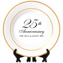 Thumbnail for Personalized Photo Plate with Classic Anniversary 25 design 1