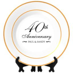 Thumbnail for Personalized Photo Plate with Classic Anniversary 40 design 1
