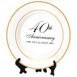 Thumbnail for Personalized Photo Plate with Classic Anniversary 40 design 2