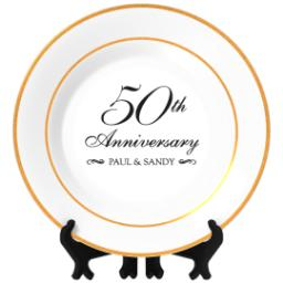 Thumbnail for Personalized Photo Plate with Classic Anniversary 50 design 1