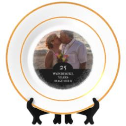 Thumbnail for Personalized Photo Plate with Wonderful Together design 1