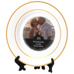 Thumbnail for Personalized Photo Plate with Wonderful Together design 2