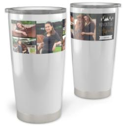 Thumbnail for Vacuum Travel Tumbler, 20oz with Adventure Buddy design 1