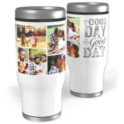 Thumbnail for Stainless Steel Tumbler, 14oz with A Good Day design 1