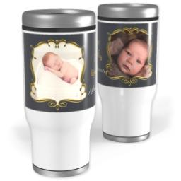 Thumbnail for Stainless Steel Tumbler, 14oz with Art Deco Joy design 1