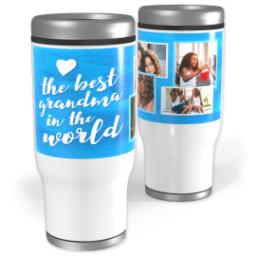 Thumbnail for Stainless Steel Tumbler, 14oz with Best Grandma Watercolor design 1