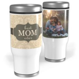 Thumbnail for Stainless Steel Tumbler, 14oz with Best Mom Ever design 1