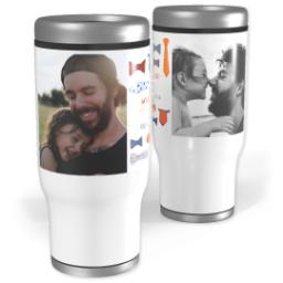 Thumbnail for Stainless Steel Tumbler, 14oz with Best Tie For Pop's design 1