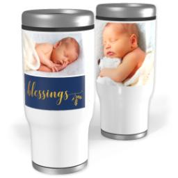Thumbnail for Stainless Steel Tumbler, 14oz with Blessings design 1