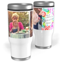Thumbnail for Stainless Steel Tumbler, 13oz with Botanical Grandma design 1