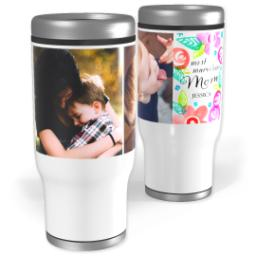 Thumbnail for Stainless Steel Tumbler, 13oz with Botanical Mom design 1