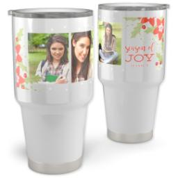 Thumbnail for Vacuum Travel Tumbler, 30oz with Boughs Of Joy design 1