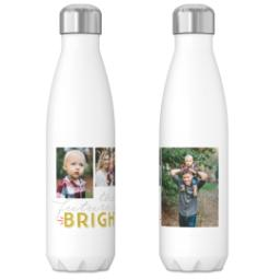 Thumbnail for 17oz Slim Water Bottle with Bright Thoughts Gray design 3