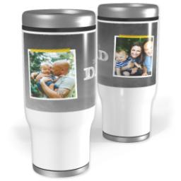 Thumbnail for Stainless Steel Tumbler, 14oz with Chalkboard Dad design 1