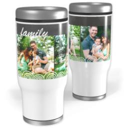 Thumbnail for Stainless Steel Tumbler, 13oz with Chalkboard Semi-Circles design 1
