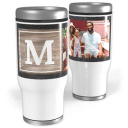 Thumbnail for Stainless Steel Tumbler, 14oz with Chalkboard With Wooden Detail design 1