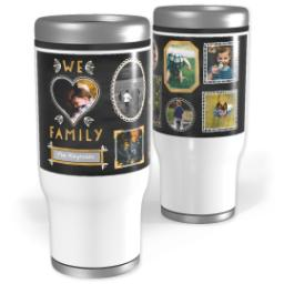 Thumbnail for Stainless Steel Tumbler, 14oz with Chalk Dust design 1