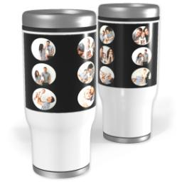 Thumbnail for Stainless Steel Tumbler, 14oz with Circle Grid in Black, Gray or Red design 1