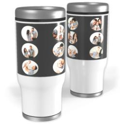 Thumbnail for Stainless Steel Tumbler, 14oz with Circle Grid in Black, Gray or Red design 2