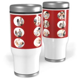 Thumbnail for Stainless Steel Tumbler, 14oz with Circle Grid in Black, Gray or Red design 3
