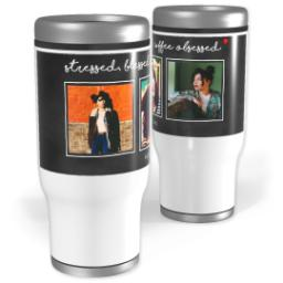 Thumbnail for Stainless Steel Tumbler, 14oz with Coffee Obsessed design 1