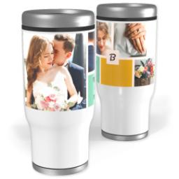 Thumbnail for Stainless Steel Tumbler, 14oz with Color Block design 1