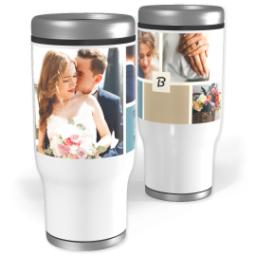 Thumbnail for Stainless Steel Tumbler, 14oz with Color Block design 2