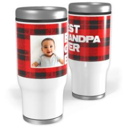 Thumbnail for Stainless Steel Tumbler, 14oz with Cozy Flannel design 1