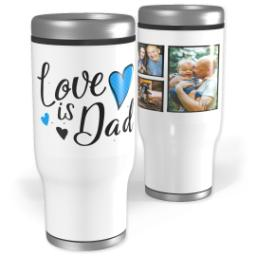 Thumbnail for Stainless Steel Tumbler, 14oz with Dad Hearts design 1