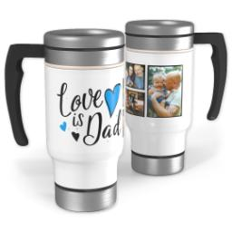 Thumbnail for Stainless Steel Photo Travel Mug, 14oz with Dad Hearts design 1
