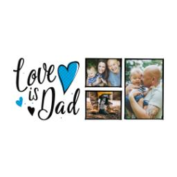 Thumbnail for Stainless Steel Photo Travel Mug, 14oz with Dad Hearts design 2