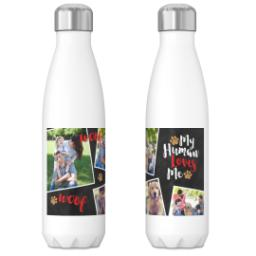 Thumbnail for 17oz Slim Water Bottle with Dog's Best Friend design 3
