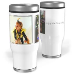 Thumbnail for Stainless Steel Tumbler, 13oz with Enjoy The Little Things design 1