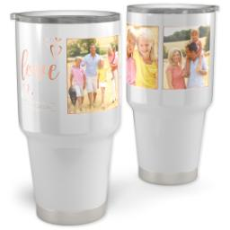 Thumbnail for Vacuum Travel Tumbler, 30oz with Evergreen Love design 1