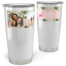 Thumbnail for 20oz Vacuum Travel Tumbler with Fabulous Flamingo design 1