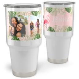 Thumbnail for Vacuum Travel Tumbler, 30oz with Fabulous Flamingo design 1