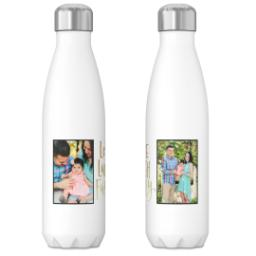 Thumbnail for 17oz Slim Water Bottle with Family Feelings Gold design 3