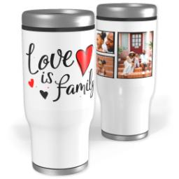Thumbnail for Stainless Steel Tumbler, 13oz with Family Hearts design 1