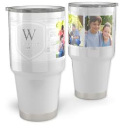 Thumbnail for Vacuum Travel Tumbler, 30oz with Family Shield design 1