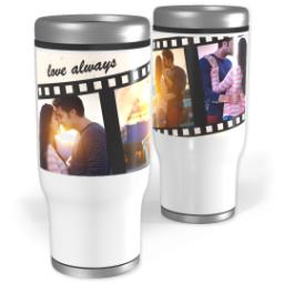 Thumbnail for Stainless Steel Tumbler, 13oz with Filmstrip design 1
