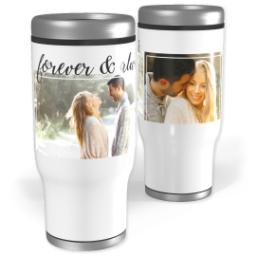 Thumbnail for Stainless Steel Tumbler, 13oz with Forever & Always In Cursive design 1