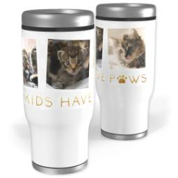 Thumbnail for Stainless Steel Tumbler, 14oz with Furry Cuddly Family design 1