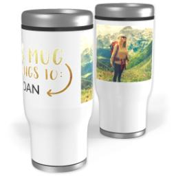 Thumbnail for Stainless Steel Tumbler, 14oz with Gift of Gold design 1