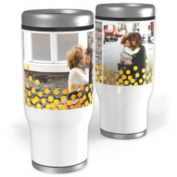 Thumbnail for Stainless Steel Tumbler, 14oz with Gold Confetti design 1